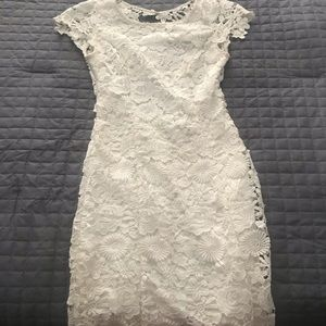 Lulus white lace dress